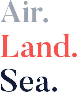 Air. Land. Sea.